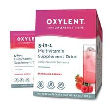 Oxylent Multivitamin Drink Sparkling Berries 30 Packets 6.9 oz