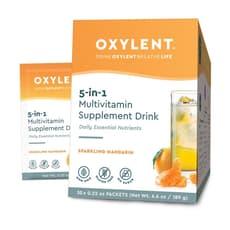 Oxylent マルチビタミン ドリンク スパークリング マンダリン 30パック