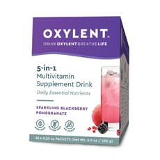 Oxylent Multivitamin Drink Sparkling Blackberry Pomegranate 30 Packets 6.9 oz