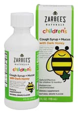 Zarbee\'s Childrens Cough Syrup+Mucus Grape 4 fl oz
