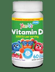 Yum-Vs 子供用ビタミンD ラズベリー1000IU 60粒
