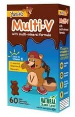 Yum-Vs マルチビタミンプラス マルチミネラル ミルクチョコレート味 60チュアブル