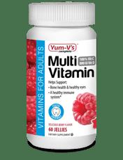 Yum-Vs 大人用マルチビタミン ラズベリー風味 60粒