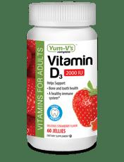 Yum-Vs ビタミンD3大人用 ストロベリーの香り2000IU 60ゼリー