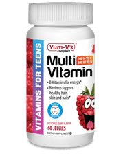 Yum-Vs マルチビタミン 10代用 ラズベリーフレーバー 60 ゼリー