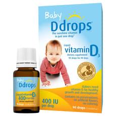 Ddrops ベビー リキッド ビタミンD3  90滴 400 IU 2.5  ml