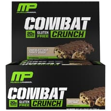 Musclepharm コンバット クランチ チョコレートチップクッキードウ 12 個入り