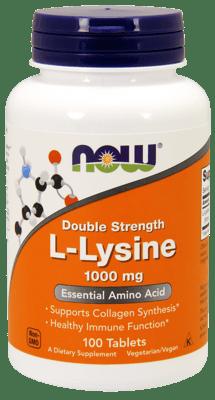 Now Foods Lリジン 1,000 mg 100 錠