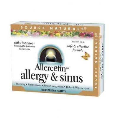 Source Naturals アレルセチンアレルギー&副鼻腔 48錠