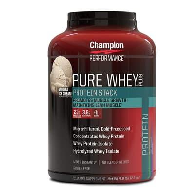 Champion Nutrition ピュアホエイプラスプロテイン バニラアイスクリーム 2.2 kg