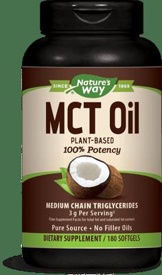 Nature's Way ココナッツから100%MCTオイル 180ソフトジェル