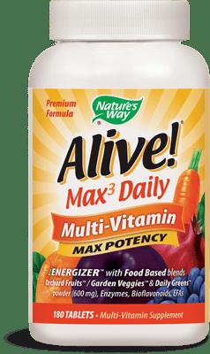 Nature's Way Alive! Max3 Daily マルチビタミン 180錠