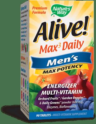 Nature's Way アライブ!マックス3 デイリーメンズマルチビタミン90錠