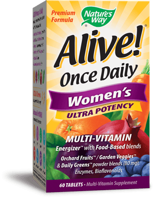 Nature's Way Alive!一日一錠女性用強力マルチビタミン 60錠