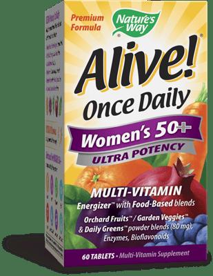Nature's Way Alive! 1日1錠女性用50+マルチビタミン 60錠