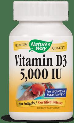 Nature's Way ビタミンD3 5,000 IU 240ソフトジェル