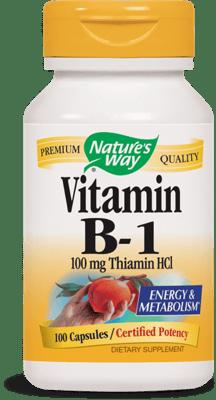 Nature's Way ビタミン B-1 100 mg 100 カプセル