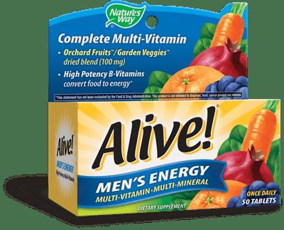 Nature's Way Alive! 男性用 エネルギー マルチビタミン 50錠
