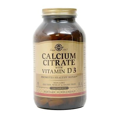 Solgar ビタミンD 3とクエン酸カルシウム 240錠