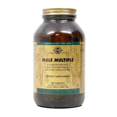 Solgar 男性の複数の高度な植物栄養素 180錠