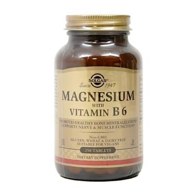 Solgar マグネシウムとビタミン B6 250錠