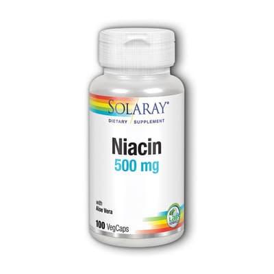 SOLARAY ナイアシン 500 mg 100 カプセル