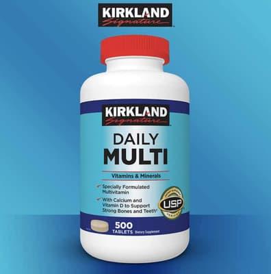 Kirkland Signature デイリーマルチビタミン & ミネラル 500 錠