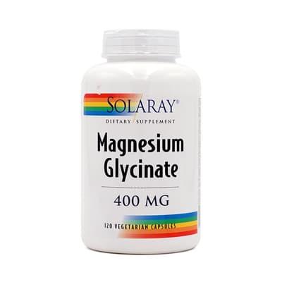 SOLARAY グリシン酸マグネシウム 400 mg 120ベジカプセル