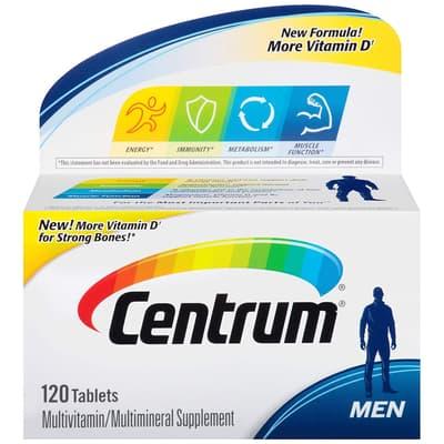Pfizer Centrum 男性用 マルチビタミン  120錠