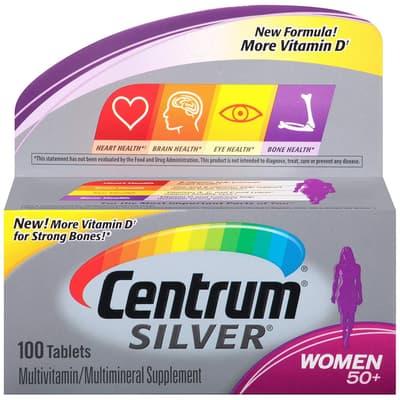 Pfizer Centrum シルバー 女性用 50+ 100錠