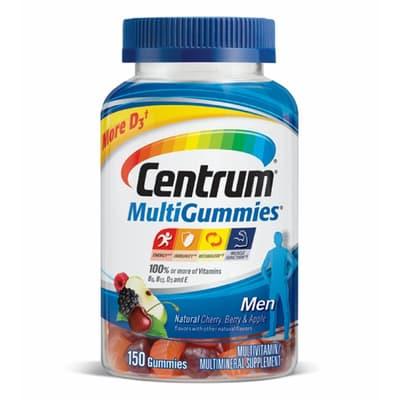 Pfizer セントラム 男性用 マルチビタミン マルチサプリメント グミ 150 錠