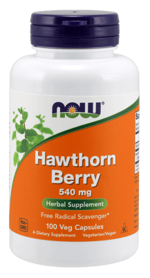 Now Foods ホーソンベリー540 mg 100 ベジカプセル