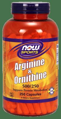 Now Foods アルギニン&オルニチン 500 mg 250 カプセル