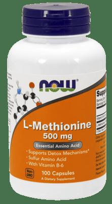 Now Foods L-メチオニン 500 mg 100カプセル