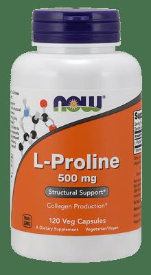 Now Foods Lプロリン 500 mg 120ベジカプセル