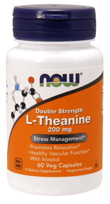 Now Foods L-テアニン 200 mg 60ベジカプセル