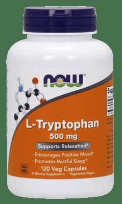Now Foods L-トリプトファン500 mg 120 ベジカプセル