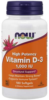 Now Foods ビタミンD-3 1,000 IU 360 ソフトジェル