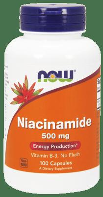 Now Foods ナイアシンアミド 500 mg 100 カプセル