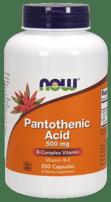 Now Foods パントテン酸 500 mg 250 カプセル