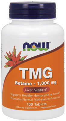 Now Foods  TMG(トリメチルグリシン)1,000 mg 100錠