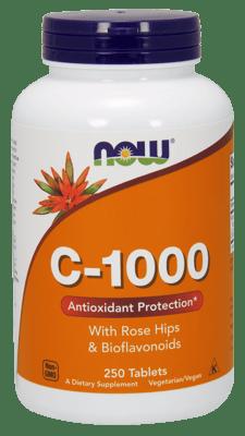 Now Foods ビタミンC-1000 ローズヒップ&バイオプラノイド 250錠
