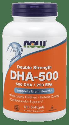 Now Foods DHA-500 500 mg 180 ソフトジェル
