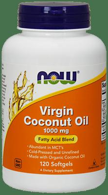 Now Foods バージンココナッツオイル 1,000 mg 120ソフトジェル