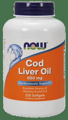 Now Foods コドーリバーオイル ダブルストレングス 650 mg 250ソフトジェル