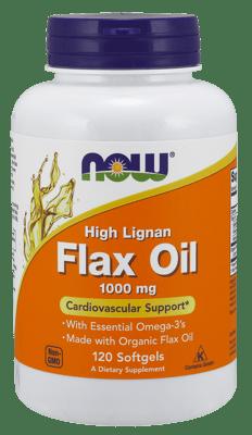 Now Foods ハイリグナン フラックスオイル 1,000 mg 120 ソフトジェル