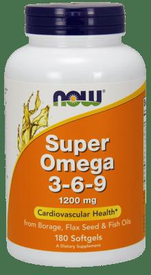Now Foods スーパーオメガ3-6-9 1,200 mg 180ソフトジェル