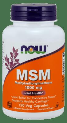 Now Foods MSM 1,000 mg 120 ベジカプセル