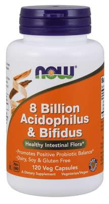 Now Foods 80億 アシドフィルス & ビフィダス乳酸菌 120 ベジカプセル