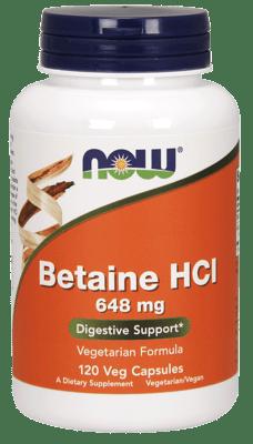 Now Foods ベタインHCL 648 mg 120ベジカプセル